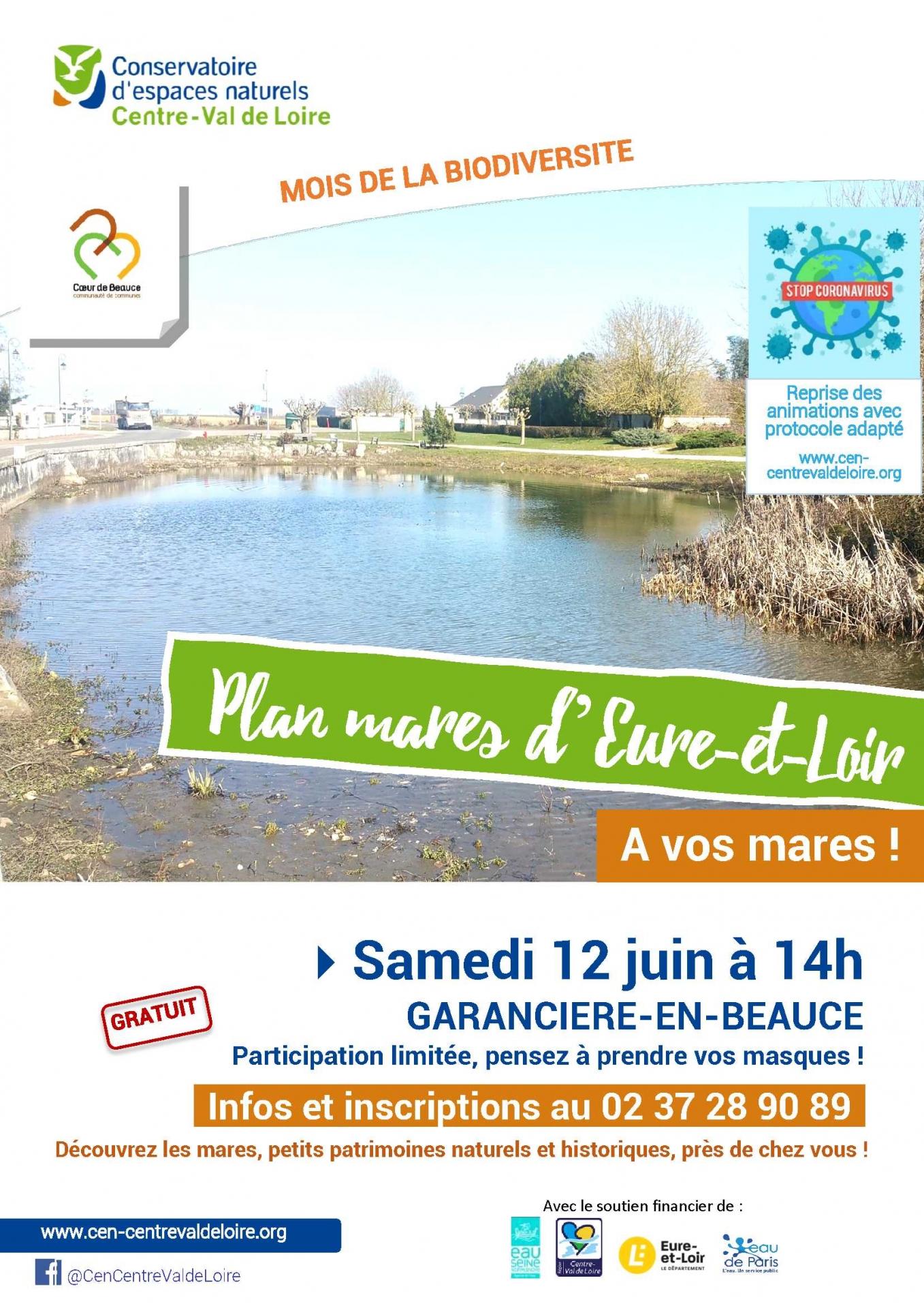 A vos mares ! La mare de Garancières-en-Beauce le 12 juin 2021 à 14h