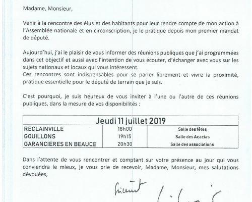 Rencontre avec Monsieur le Député Philippe VIGIER